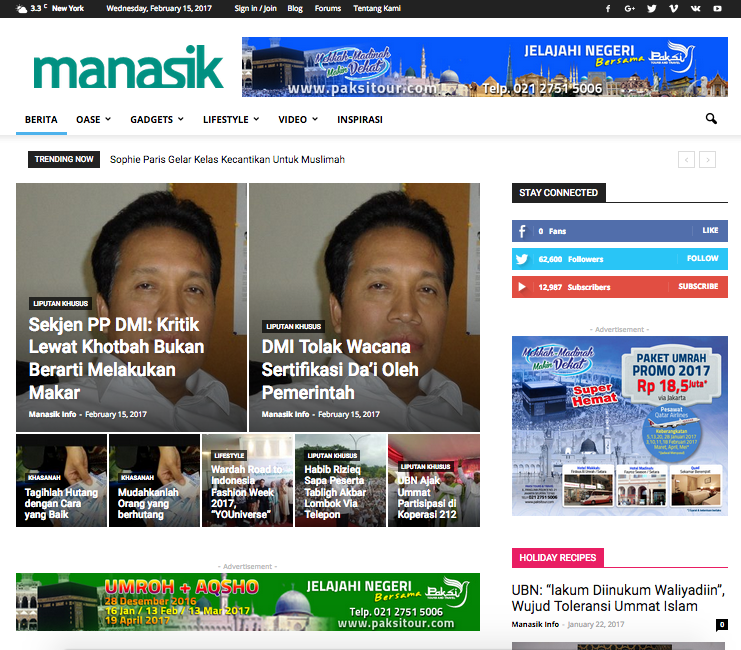 Manasik Info Website Development