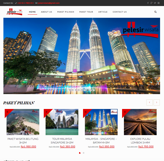 Pelesir Wisata Website Development